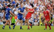 18 July 2010; Colin Walshe, Monaghan, tussles with Brian Dooher, Tyrone. Ulster GAA Football Senior Championship Final, Monaghan v Tyrone, St Tighearnach's Park, Clones, Co. Monaghan. Picture credit: Brendan Moran / SPORTSFILE