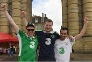 17 June 2016; Republic of Ireland supporters, left to right, Darragh Boland, William English, and Fergal Tyther, at UEFA Euro 2016 in Bordeaux, France. Photo by Stephen McCarthy/Sportsfile