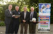 17 June 2016; Pictured at the announcement of Dublin & District Schoolboys League Club Registration System Contract with MyClubFinances.com are, Warren Healy, CEO MyClubFinances.com, Paddy Dempsey, Chairman, DDSL, Michael Furey, Technical Director, MyClubFinances.com, and Paul McEvoy, treasurer, DDSL. Castletroy Park Hotel, Limerick. Photo by Diarmuid Greene/Sportsfile