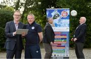 17 June 2016; Pictured at the announcement of Dublin & District Schoolboys League Club Registration System Contract with MyClubFinances.com are, Warren Healy, CEO MyClubFinances.com, Paddy Dempsey, Chairman DDSL, Michael Furey, Technical Director, MyClubFinances.com, and Paul McEvoy, treasurer DDSL. Castletroy Park Hotel, Limerick. Photo by Diarmuid Greene/Sportsfile