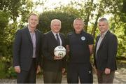 17 June 2016; Pictured at the announcement of Dublin & District Schoolboys League Club Registration System Contract with MyClubFinances.com are, Warren Healy, CEO MyClubFinances.com, Paul McEvoy, treasurer, DDSL, and Paddy Dempsey, Chairman, DDSL, and Michael Furey, Technical Director, MyClubFinances.com. Castletroy Park Hotel, Limerick. Photo by Diarmuid Greene/Sportsfile