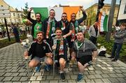 17 June 2016; Republic of Ireland supporters, all from Cahersiveen, Co. Kerry, from left, Keith Curran, Declan Keating, Michael Pat Donnelly, Killian Nolan, Jonathan Coffey, Shane Horgan and Michael O'Sullivan at UEFA Euro 2016 in Bordeaux, France. Photo by Stephen McCarthy/Sportsfile