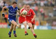 18 July 2010; Brian Dooher, Tyrone, in action against Darren Hughes, Monaghan. Ulster GAA Football Senior Championship Final, Monaghan v Tyrone, St Tighearnach's Park, Clones, Co. Monaghan. Picture credit: Brendan Moran / SPORTSFILE