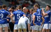18 June 2016; Laois selector Anthony Cunningham with the players prior to the GAA Football All-Ireland Senior Championship Qualifier Round 1A match between Laois and Armagh at O'Moore Park in Portlaoise, Co. Laois. Photo by Matt Browne/Sportsfile