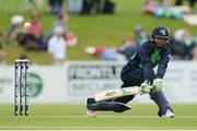 16 June 2016; John Anderson of Ireland scores a boundary off a delivery from Seekuge Prasanna of Sri Lanka during the One Day International match between Ireland and Sri Lanka at Malahide Cricket Ground in Malahide, Dublin. Photo by Seb Daly/Sportsfile