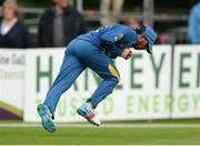 16 June 2016; Kusal Mendis of Sri Lanka catches John Anderson of Ireland on the boundary off a Seekuge Prasanna delivery during the One Day International match between Ireland and Sri Lanka at Malahide Cricket Ground in Malahide, Dublin. Photo by Seb Daly/Sportsfile