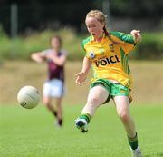 24 July 2010; Kayla Farren, Donegal. Ladies Gaelic Football Minor A Championship All-Ireland Final, Donegal v Galway, Seán O'Heslin GAA Cub, Ballinamore, Co. Leitrim. Picture credit: Brian Lawless / SPORTSFILE