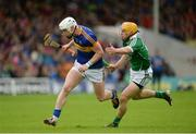 19 June 2016; Michael Breen of Tipperary in action against Paul Browne of Limerick during the Munster GAA Hurling Senior Championship Semi-Final match between Limerick and Tipperary at Semple Stadium in Thurles, Co Tipperary. Photo by Daire Brennan/Sportsfile