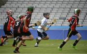 20 June 2016; Cathal Gough of Bishop Galvin, Templeogue, takes on the Scoil Muire agus Iosaf, Bayside, defence during the Corn Marino match between Bishop Galvin, Templeogue and Scoil Muire agus Iosaf, Bayside, during the Allianz Cumann na mBunscol Finals at Croke Park in Dublin. Photo by Piaras Ó Mídheach/Sportsfile