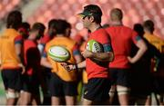 23 June 2016; South Africa assistant coach Johann van Graan during rugby squad training at the Nelson Mandela Bay Stadium, Port Elizabeth, South Africa. Photo by Brendan Moran/Sportsfile