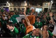 22 June 2016; Republic of Ireland supporters celebrate their victory during the early hours of the morning following the UEFA Euro 2016 Group E match between Italy and Republic of Ireland in Lille, France. Photo by Stephen McCarthy/Sportsfile