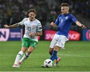 22 June 2016; Jeff Hendrick of Republic of Ireland in action against Ciro Immobile of Italy during the UEFA Euro 2016 Group E match between Italy and Republic of Ireland at Stade Pierre-Mauroy in Lille, France Photo by David Maher/Sportsfile