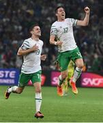 22 June 2016; Robbie Brady and Stephen Ward of Republic of Ireland at the end of the game during the UEFA Euro 2016 Group E match between Italy and Republic of Ireland at Stade Pierre-Mauroy in Lille, France. Photo by David Maher/Sportsfile