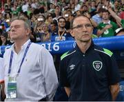 22 June 2016; Republic of Ireland manager Martin O'Neill with coach Steve Walford during the UEFA Euro 2016 Group E match between Italy and Republic of Ireland at Stade Pierre-Mauroy in Lille, France. Photo by David Maher/Sportsfile