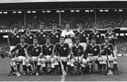7 September 1980; The Galway team, back row, left to right, Conor Hayes, Steve Mahon, John Connolly, Michael Connolly, Frank Burke, Noel Lane, Sean Silke, front row, left to right, Niall McInerney, Seamus Coen, Jimmy Cooney, Joe Connolly, Sylvie Linnane, PJ Molloy, and Bernie Forde. All Ireland Hurling Championship Final, Galway v Limerick, Croke Park, Dublin. Photo by Ray McManus/Sportsfile