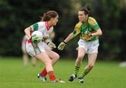 2 August 2010; Mary Naughton, Mayo, in action against Sarah Houlihan, Kerry. TG4 Ladies Football All-Ireland Senior Championship Qualifier, Kerry v Mayo, St Rynagh's, Banagher, Co. Offaly. Picture credit: Paul Mohan / SPORTSFILE