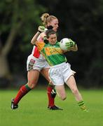 2 August 2010; Sarah Houlihan, Kerry, in action against Claire Egan, Mayo. TG4 Ladies Football All-Ireland Senior Championship Qualifier, Kerry v Mayo, St Rynagh's, Banagher, Co. Offaly. Picture credit: Paul Mohan / SPORTSFILE