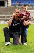 31 July 2010; Galway manager Gerry Fahy celebrates victory with Thomas Collins. ESB GAA Football All-Ireland Minor Championship Quarter-Final, Longford v Galway, Dr. Hyde Park, Roscommon. Picture credit: Barry Cregg / SPORTSFILE