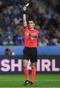 22 June 2016; Referee Ovidiu Hategan during the UEFA Euro 2016 Group E match between Italy and Republic of Ireland at Stade Pierre-Mauroy in Lille, France. Photo by Stephen McCarthy/Sportsfile