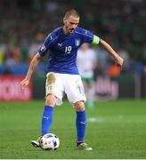 22 June 2016; Leonardo Bonucci of Italy during the UEFA Euro 2016 Group E match between Italy and Republic of Ireland at Stade Pierre-Mauroy in Lille, France. Photo by Stephen McCarthy/Sportsfile