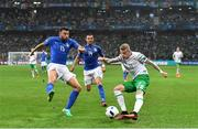 22 June 2016; James McClean of Republic of Ireland in action against Andrea Barzagli of Italy during the UEFA Euro 2016 Group E match between Italy and Republic of Ireland at Stade Pierre-Mauroy in Lille, France. Photo by Stephen McCarthy/Sportsfile