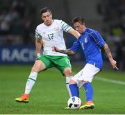 22 June 2016; Federico Bernardeschi of Italy in action against Stephen Ward of Republic of Ireland during the UEFA Euro 2016 Group E match between Italy and Republic of Ireland at Stade Pierre-Mauroy in Lille, France. Photo by Stephen McCarthy/Sportsfile