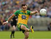 25 June 2016; Karl Lacey of Donegal scores the first point of the game during the Ulster GAA Football Senior Championship Semi-Final game between Donegal and Monaghan at Kingspan Breffni Park in Cavan. Photo by Oliver McVeigh/Sportsfile