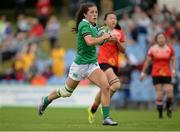 25 June 2016; Amee Leigh Murphy Crowe of Ireland on her way to scoring her side's second try of the match during the World Rugby Women's Sevens Olympic Repechage Pool C match between Ireland and China at UCD Sports Centre in Belfield, Dublin. Photo by Seb Daly/Sportsfile
