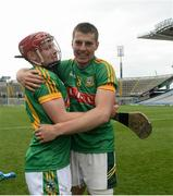 25 June 2016; Seán Quigley of Meath, left, and Gavin McGowan celebrate after the Christy Ring Cup Final Replay between Antrim and Meath at Croke Park in Dublin. Photo by Piaras Ó Mídheach/Sportsfile