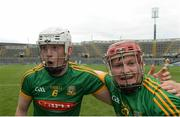25 June 2016; Damian Healy of Meath, left, and team-mate Seán Quigley celebrate after the Christy Ring Cup Final Replay between Antrim and Meath at Croke Park in Dublin. Photo by Piaras Ó Mídheach/Sportsfile