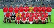 8 July 2001; Tyrone minor football team. Tyrone v Monaghan Ulster Minor Football Championship Final, St. Tighearnach's Park, Clones, Co. Monaghan. Picture credit; David Maher / SPORTSFILE