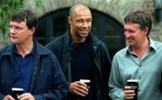 23 July 2001; Former Irish soccer internationals, from left to right, Kevin Moran, Paul McGrath and Kevin Sheedy, pictured at the Italia '90 reunion bash, Guinness Storehouse building, St. James Gate, Dublin. Picture credit; David Maher / SPORTSFILE
