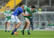 26 June 2016; Eoghan O'Sullivan, Killarney Legion, Co. Kerry, in action against Aidan Hancock, Celbridge, Co. Kildare, during the John West Féile Peile na nÓg Division 1 Shield Final at Austin Stack Park in Tralee, Co Kerry.  Photo by Matt Browne/Sportsfile