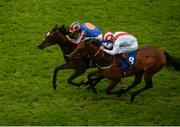 26 June 2016; Eventual winner Roly Poly, with Ryan Moore up, races ahead of Seafront, with Pat Smullen up, on their way to winning the Grangecon Stud Stakess at the Curragh Racecourse in the Curragh, Co. Kildare. Photo by Cody Glenn/Sportsfile