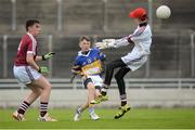 26 June 2016; Mark Connellan, Castleknock, Dublin, scores his side's third goal against Termon, Co. Donegal, during the John West Féile Peile na nÓg Division 1 Final at Austin Stack Park in Tralee, Co Kerry. Photo by Matt Browne/Sportsfile
