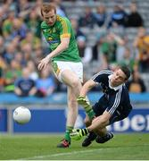 26 June 2016; Dalton McDonagh of Meath in action against Stephen Cluxton of Dublin during the Leinster GAA Football Senior Championship Semi-Final match between Dublin and Meath at Croke Park in Dublin. Photo by Oliver McVeigh/Sportsfile