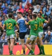 26 June 2016; Diarmuid Connolly of Dublin in a tussle with Meath's, from left, Eamon Wallace, Donal Keogan, Andrew Tormey and Graham Reilly during the Leinster GAA Football Senior Championship Semi-Final match between Dublin and Meath at Croke Park in Dublin. Photo by Piaras Ó Mídheach/Sportsfile