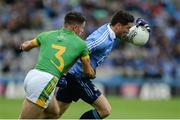 26 June 2016; Bernard Brogan of Dublin in action against Donal Keogan of Meath during the Leinster GAA Football Senior Championship Semi-Final match between Dublin and Meath at Croke Park in Dublin. Photo by Oliver McVeigh/Sportsfile