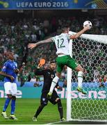 22 June 2016; Shane Duffy of Republic of Ireland during the UEFA Euro 2016 Group E match between Italy and Republic of Ireland at Stade Pierre-Mauroy in Lille, France. Photo by Stephen McCarthy/Sportsfile