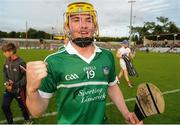28 June 2016; Oisin O'Reilly of Limerick celebrates following his team's victory in the Bord Gáis Energy Munster U21 Hurling Championship Quarter-Final match between Limerick and Cork at Páirc Uí Rinn in Cork. Photo by Seb Daly/Sportsfile