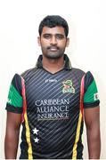 28 June 2016; Thisara Perera, St Kitts and Nevis Patriots. St Kitts and Nevis Patriots squad portraits, St. Kitts Marriott Resort, Frigate Bay Road, Frigate Bay, St. Kitts & Nevis. Photo by Ashley Allen/Sportsfile