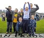 1 May 2010; Dublin and Donegal supporters, including Dublin wing-forward Mark Coughlan's brother Eoin and his cousins, from Donegal, after the game. Cadbury GAA Football Under 21 All-Ireland Championship Final, Dublin v Donegal, Kingspan Breffni Park, Cavan. Picture credit: Dáire Brennan / SPORTSFILE