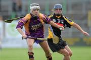 14 August 2010; Kate Kelly, Wexford, in action against Ann Dalton, Kilkenny. Gala All-Ireland Senior Camogie Championship Semi-Final, Kilkenny v Wexford, Nowlan Park, Kilkenny. Picture credit: Matt Browne / SPORTSFILE
