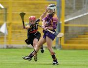 14 August 2010; Kate Kelly, Wexford, in action against Jacqui Frisby, Kilkenny. Gala All-Ireland Senior Camogie Championship Semi-Final, Kilkenny v Wexford, Nowlan Park, Kilkenny. Picture credit: Matt Browne / SPORTSFILE