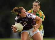 14 August 2010; Aine Gilmore, Galway, in action against Sarah Houlihan, Kerry. TG4 Ladies Football All-Ireland Senior Championship Quarter-Final, Galway v Kerry, St Rynagh's, Banagher, Co. Offaly. Picture credit: Brendan Moran / SPORTSFILE