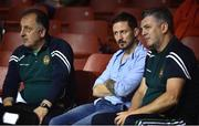 2 July 2016; UFC coach John Kavanagh, centre, with Ireland boxing coaches Zaur Antia and John Conlan, right,during a Boxing Test Match event between Ireland and Russia at The National Stadium in Dublin. Photo by Paul Mohan/Sportsfile