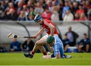 2 July 2016; James Madden of Dublin is tackled by Conor Lehane of Cork during the GAA Hurling All-Ireland Senior Championship Round 1 match between Cork and Dublin at Pairc Ui Rinn in Cork. Photo by Seb Daly/Sportsfile