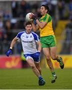 2 July 2016; Rory Kavanagh of Donegal in action against Darren Hughes of Monaghan during the Ulster GAA Football Senior Championship Semi-Final Replay between Donegal and Monaghan at Kingspan Breffni Park in Cavan. Photo by Stephen McCarthy/Sportsfile