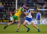 2 July 2016; Darren Hughes of Monaghan in action against Rory Kavanagh of Donegal during the Ulster GAA Football Senior Championship Semi-Final Replay between Donegal and Monaghan at Kingspan Breffni Park in Cavan. Photo by Stephen McCarthy/Sportsfile