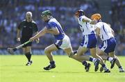 15 August 2010; Noel McGrath, Tipperary, breaks away from Shane O'Sullivan and Paddy Stapleton, right, Waterford. GAA Hurling All-Ireland Senior Championship Semi-Final, Waterford v Tipperary, Croke Park, Dublin. Picture credit: Dáire Brennan / SPORTSFILE